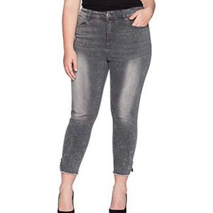 Seven7 gray high rise ankle legging jeans A0157